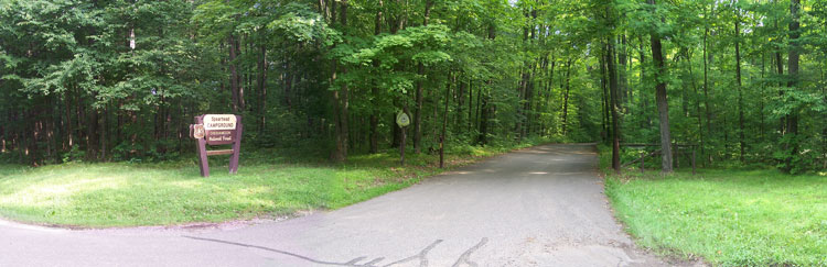 Spearhead Campground Entrance in Mondeaux Flowage Recreation Area